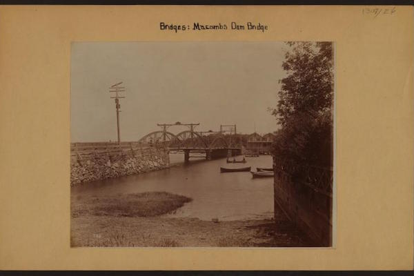 In 1891, Macomb's Dam Bridge, looking from the Bronx shore toward Manhattan. (Photo credit: NYPL Digital Collection)
